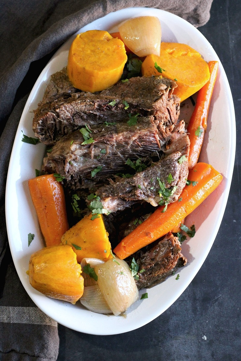 Melt-in-your-mouth Slow Cooker Pot Roast and Vegetables