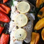 Sheet Pan Cod with Sweet Peppers