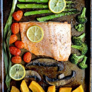Sheet Pan Dinner For Two Salmon & Veggies