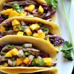 Steak Tacos with Mango Jalapeño Salsa