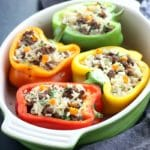Ground Beef & Brown Rise Stuffed Peppers