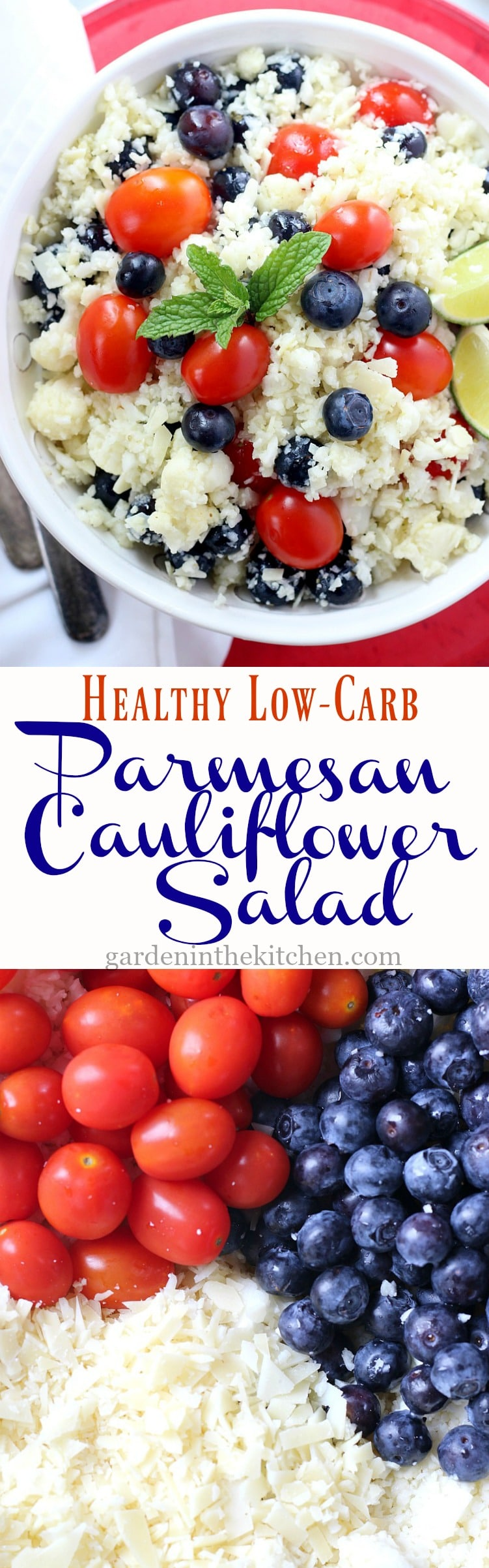 Healthy Low-Carb Parmesan Cauliflower Salad