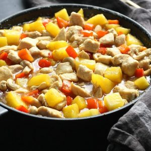 Low Carb Chinese Cashew Pineapple Chicken