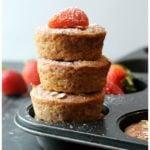 Healthy Strawberry Banana Oatmeal Muffins