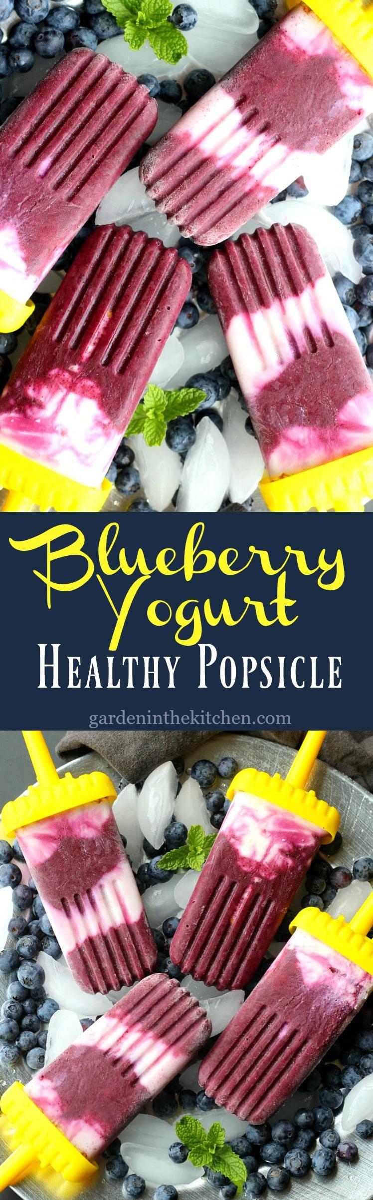 Blueberry Yogurt Healthy Popsicle
