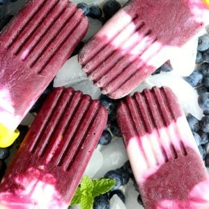 Blueberry Yogurt Healthy Popsicle
