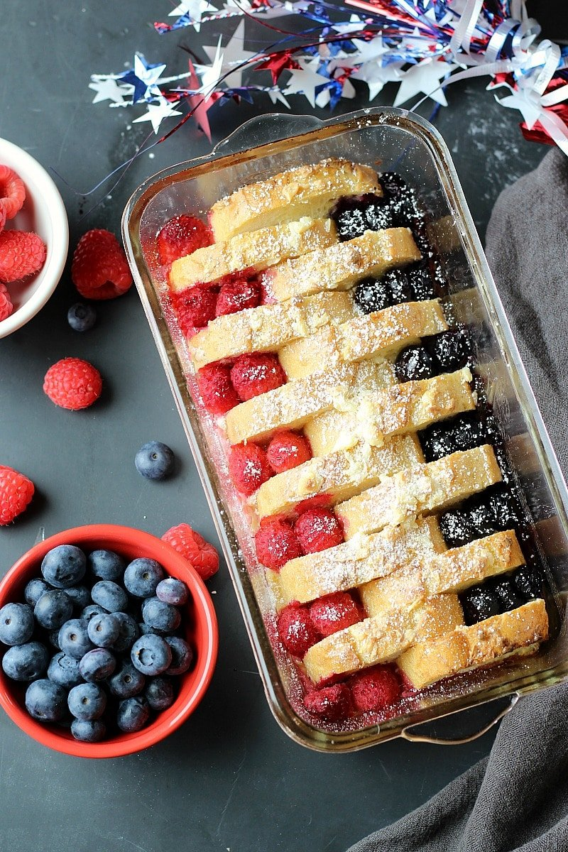 Berries Cream Cheese French Toast