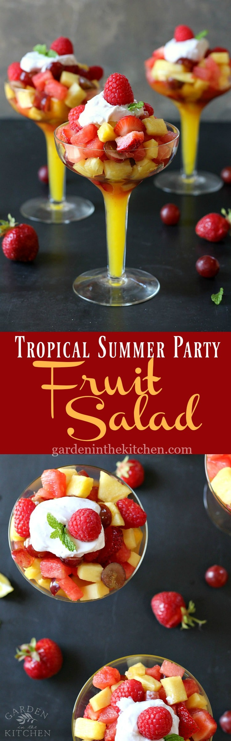 Tropical Summer Party Fruit Salad