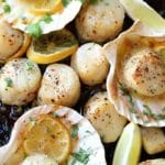 Sheet Pan Garlic Butter Scallops