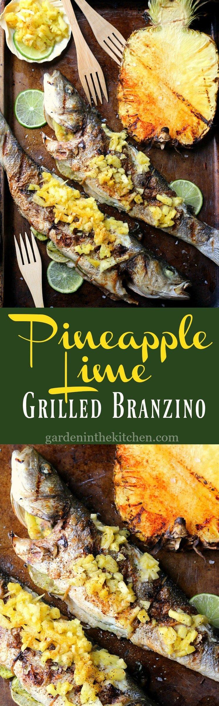 Pineapple Lime Grilled Branzino