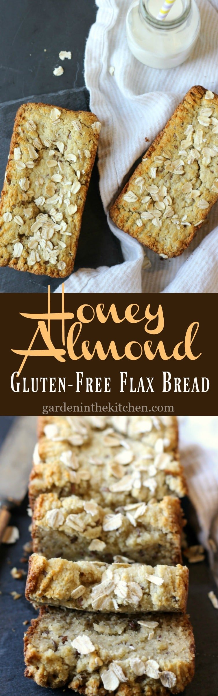 Honey Almond Flax Bread