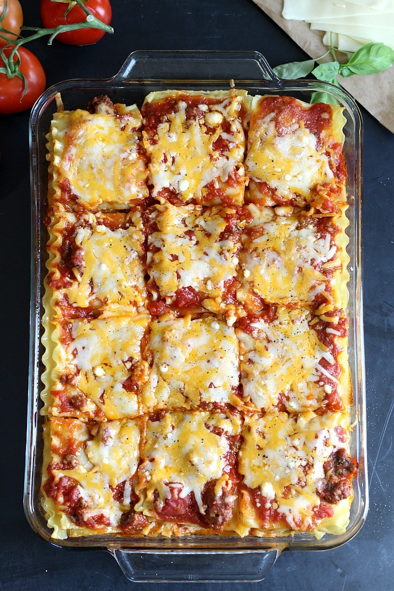 Classic Meat Sauce Lasagna