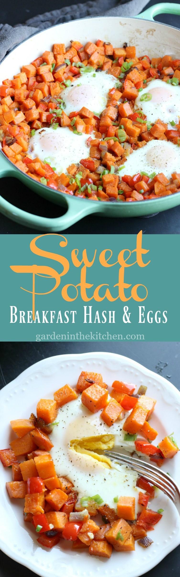 Sweet Potato Breakfast Hash & Eggs