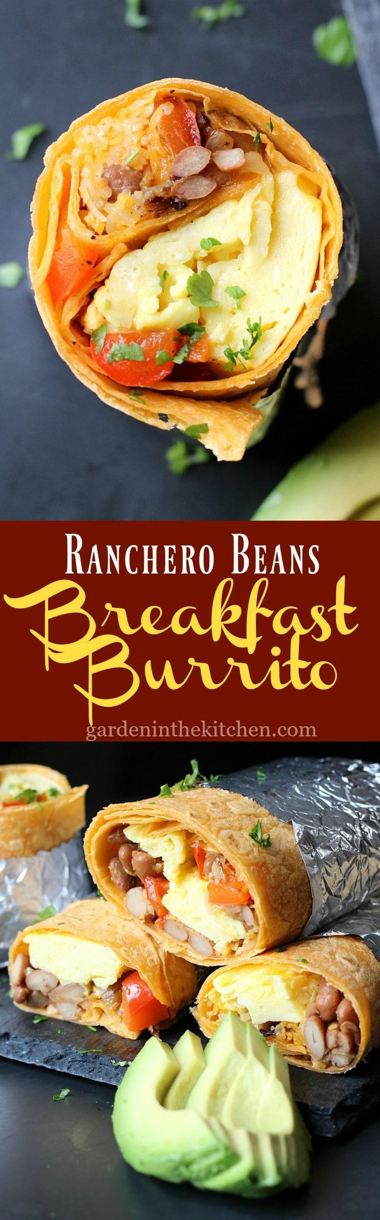 Ranchero Beans Breakfast Burrito