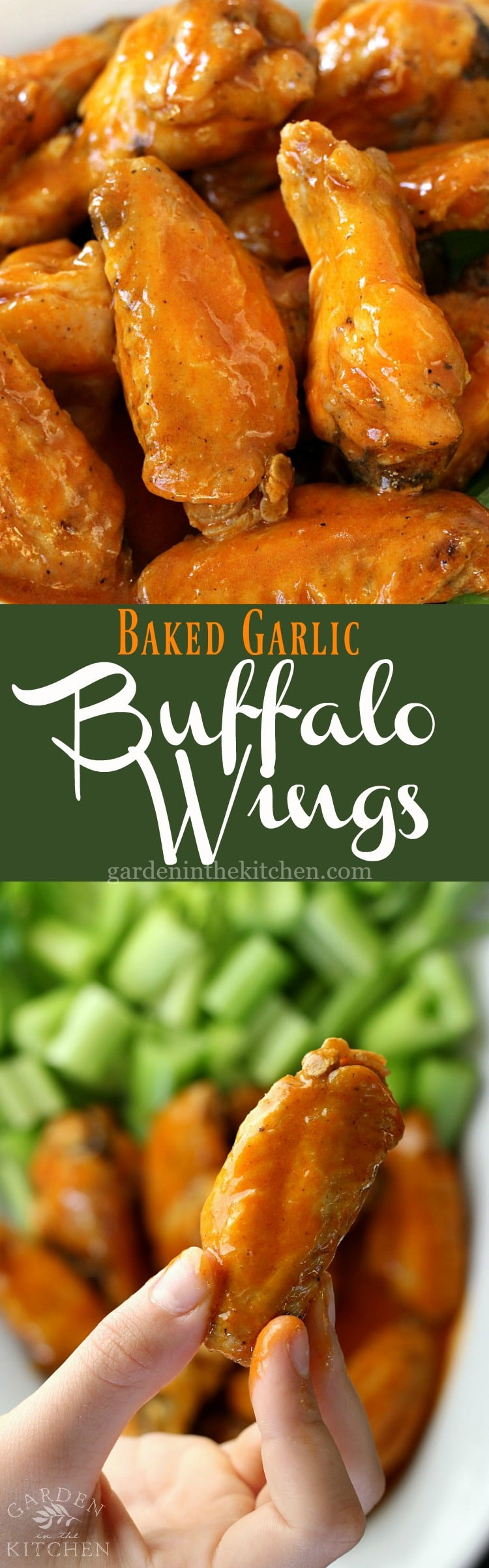 Baked Garlic Buffalo Wings | Garden in the Kitchen