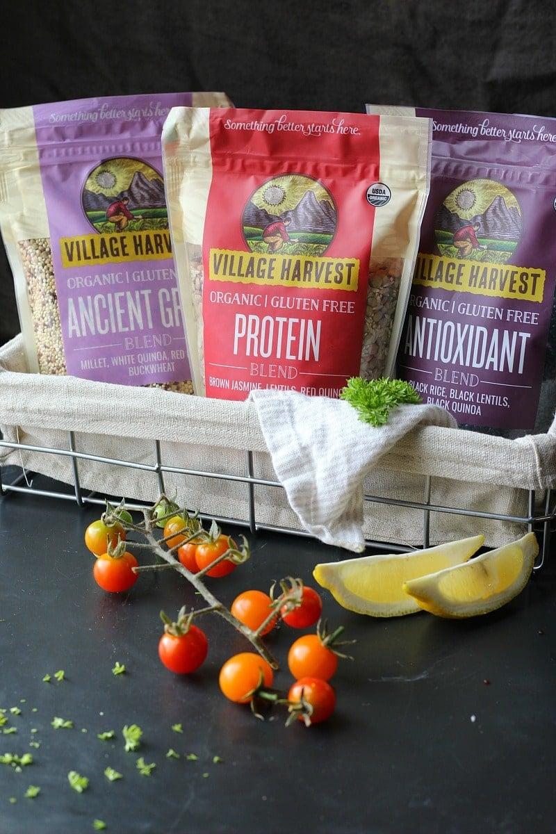 Mediterranean Lentil Quinoa Rice Salad | Garden in Kitchen