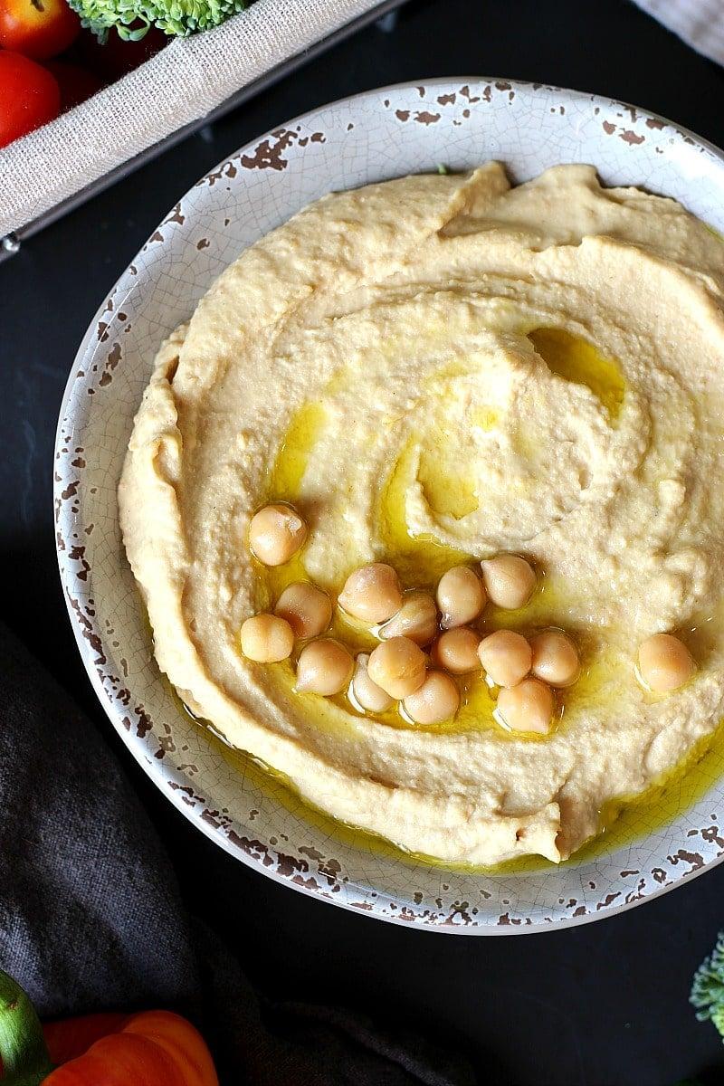 Original Creamy Chickpea Hummus | Garden in the Kitchen