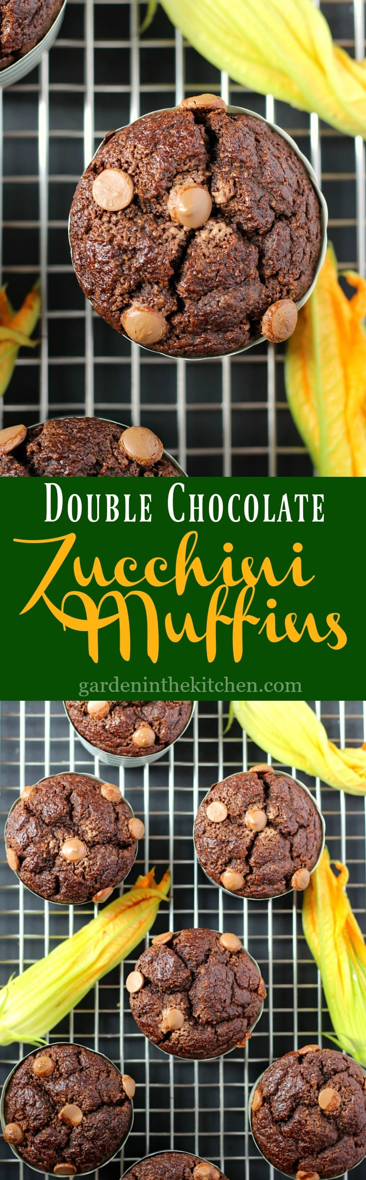 Double Chocolate Zucchini Muffins (Gluten-Free) | Garden in the Kitchen