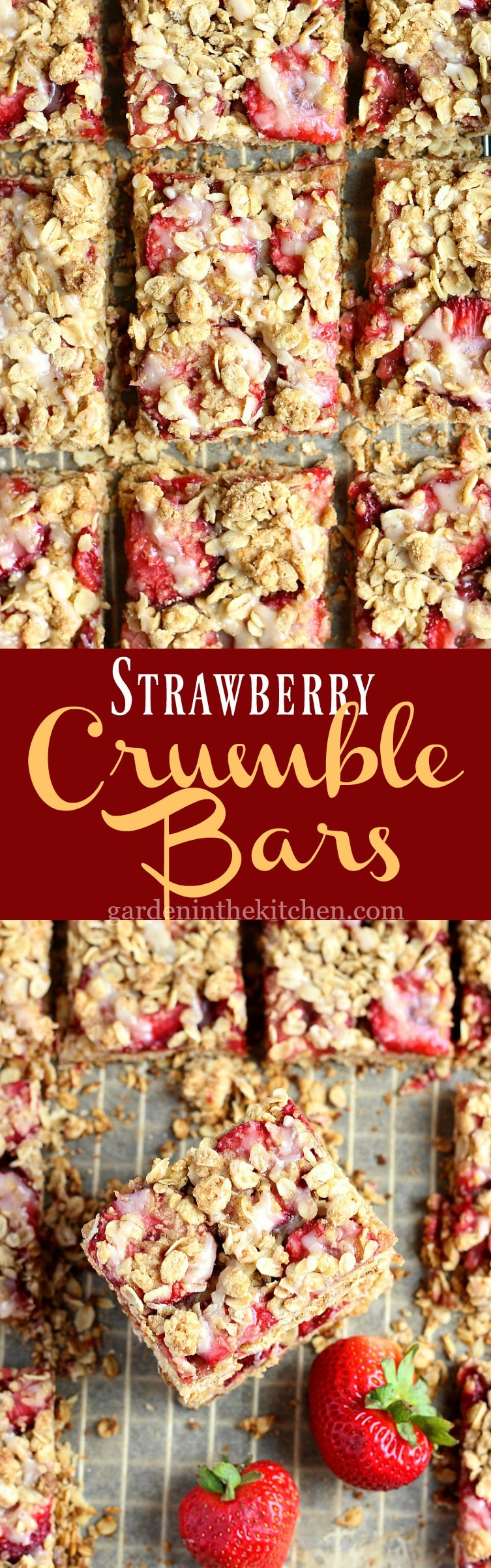 Strawberry Crumble Bars | Garden in the Kitchen