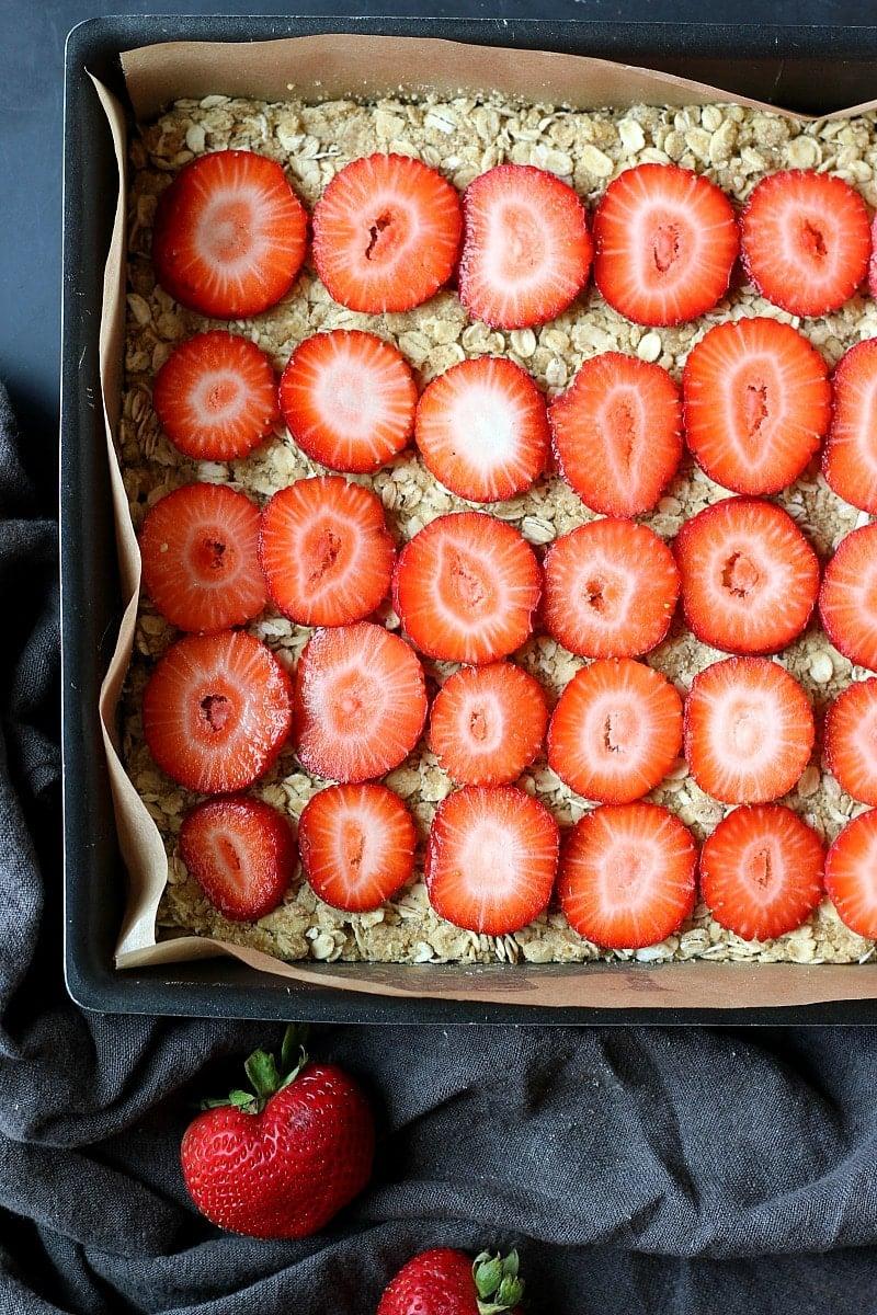 Strawberry Crumble Bars | Garden in the Kitchen