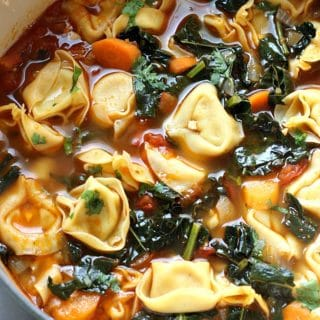 BEST Veggie Tortellini Soup | Garden in the Kitchen