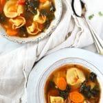 BEST Veggie Tortellini Soup | Garden in the Kitchen