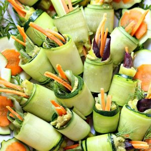 No-Bake Low Carb Zucchini Roll Ups | Garden in the Kitchen