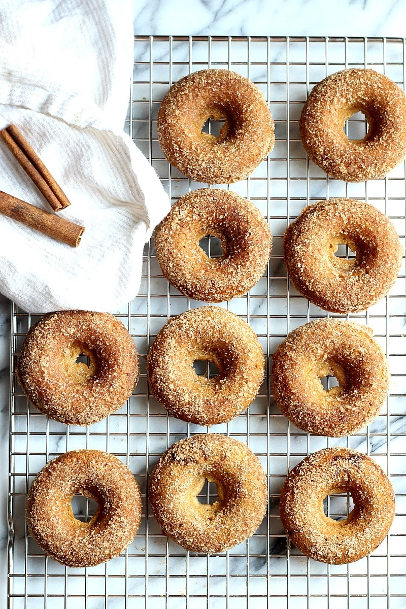 Baked Gluten-Free Apple Cider Donuts (Just like Farm Fresh Donuts!) | Garden in the Kitchen