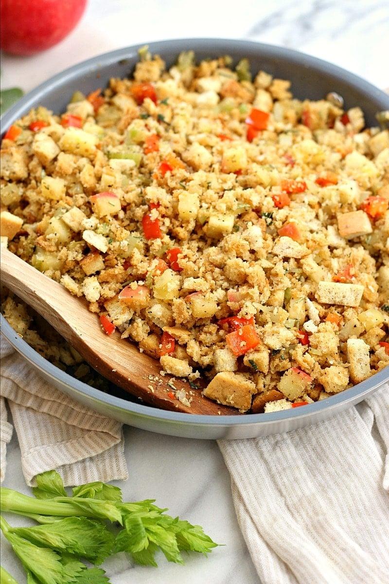 Apple Sage Thanksgiving Stuffing | Garden in the Kitchen