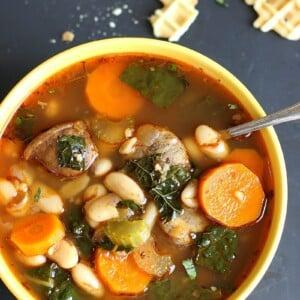 Cannellini Sausage Kale Soup