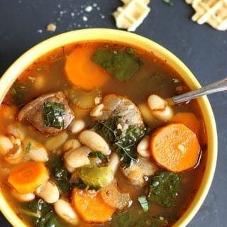 Cannellini Sausage Kale Soup | Garden in the kitchen