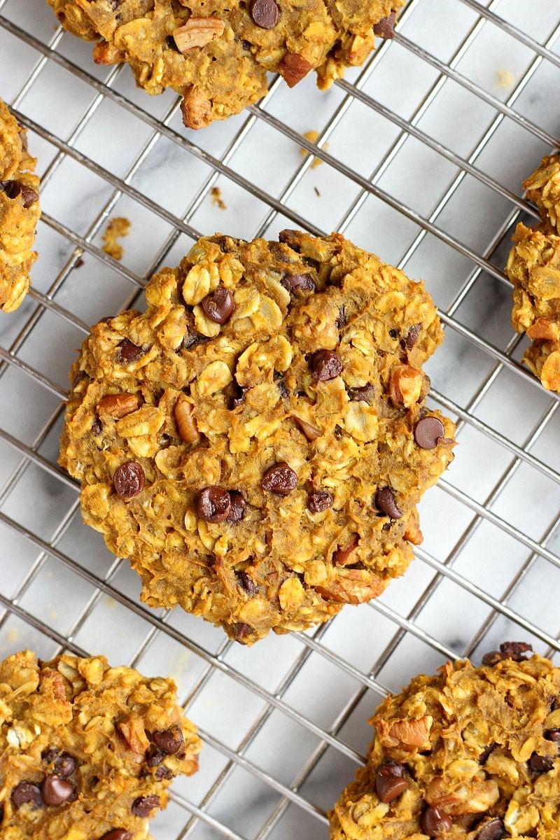 Pumpkin Chocolate Chip Pecan BREAKFAST Cookies!   Garden in the Kitchen