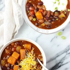 Three Bean Vegetarian Chili | Garden in the Kithen