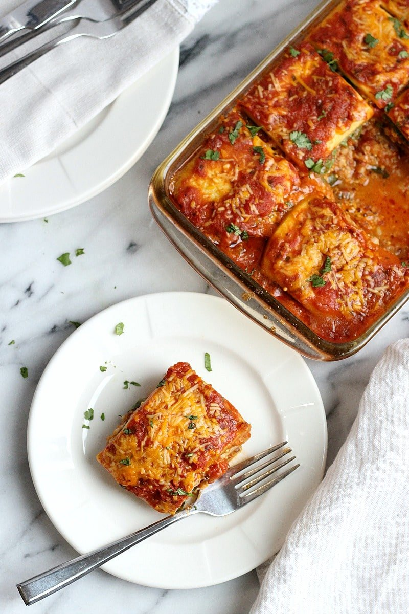 Low-Carb Dairy-Free Vegetarian Zucchini Lasagna | Garden in the Kitchen