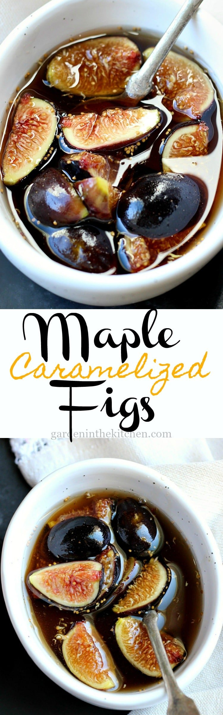 Maple Caramelized Figs | Garden in the Kitchen