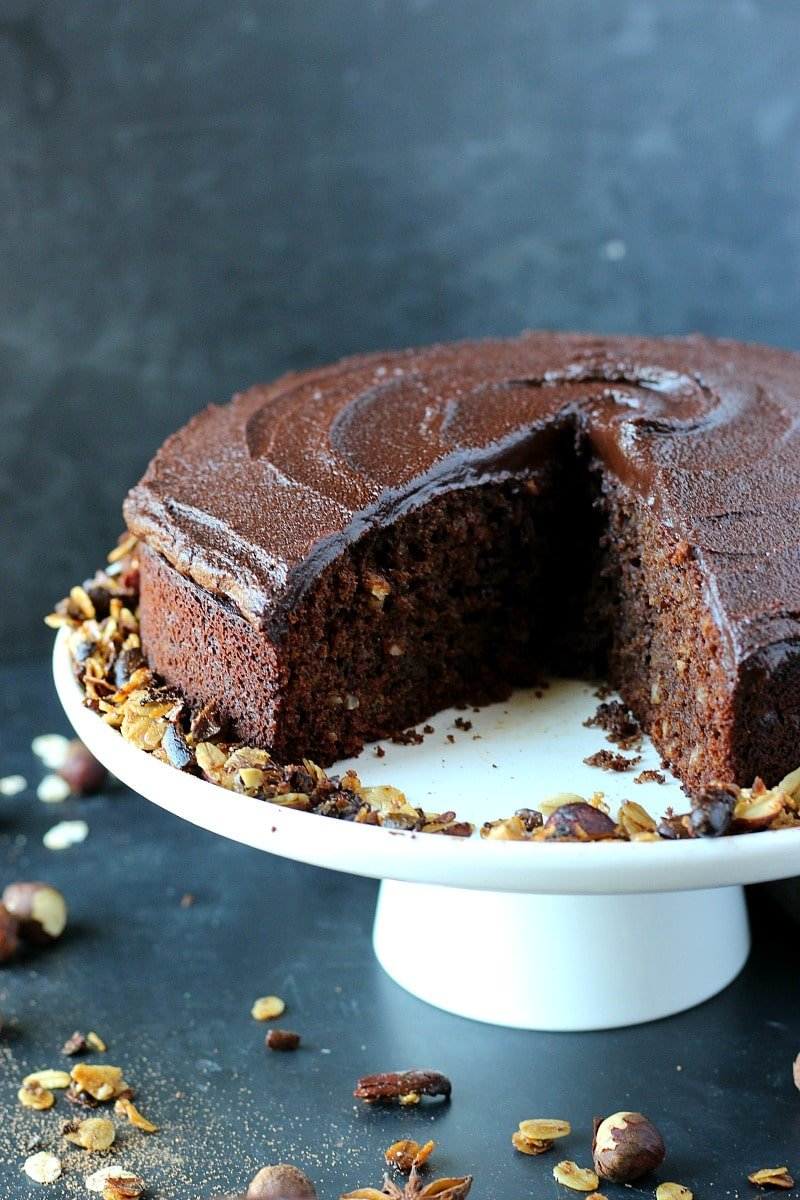 Chocolate Espresso Hazelnut Cake | Garden in the Kitchen