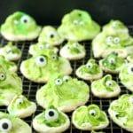 Green Gobblers Meringues