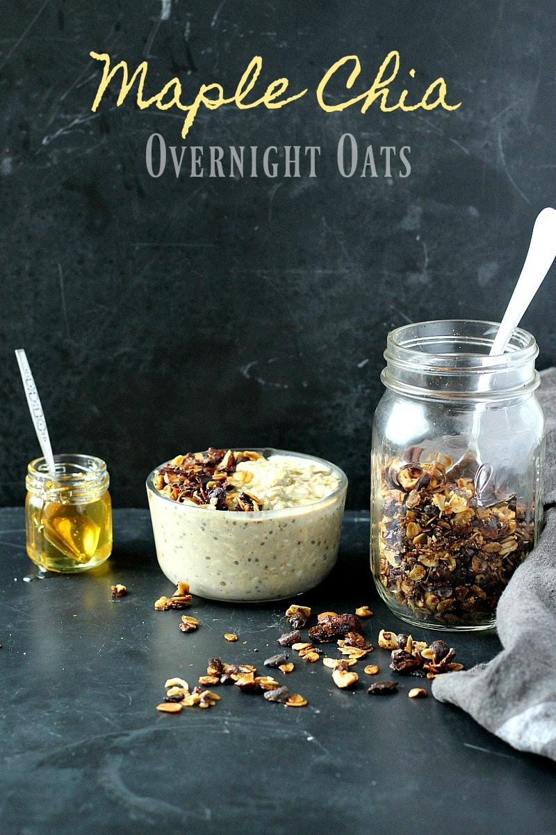 Maple Chia Overnight Oats | Garden in the Kitchen