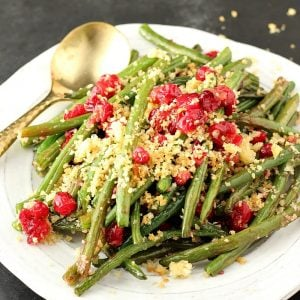 Maple Glazed Green Beans With Parmesan Panko