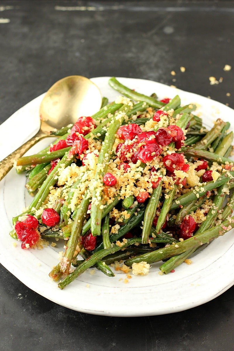 Maple Glazed Green Beans With Parmesan Panko | Garden in the Kitchen