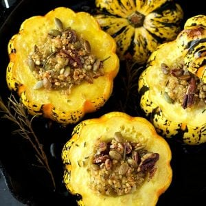 Quinoa Barley Stuffed Squash | Garden in the Kitchen