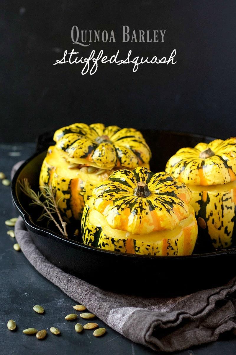 Quinoa Barley Stuffed Squash | Garden in the Kitchen