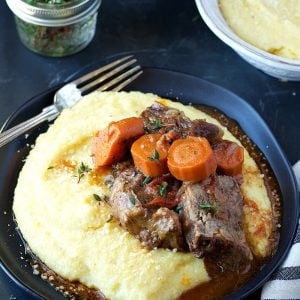 Instant Pot Beef Short Ribas with Creamy Polenta | Garden in the Kitchen