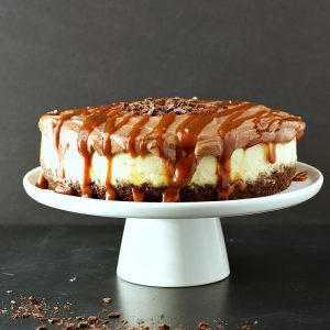 Instant Pot Chocolate Caramel Cheesecake