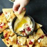 Spicy Pita Chips Party Appetizer | Garden in the Kitchen