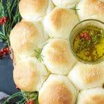 Garlic Parmesan Bread Wreath | Garden in the Kitchen