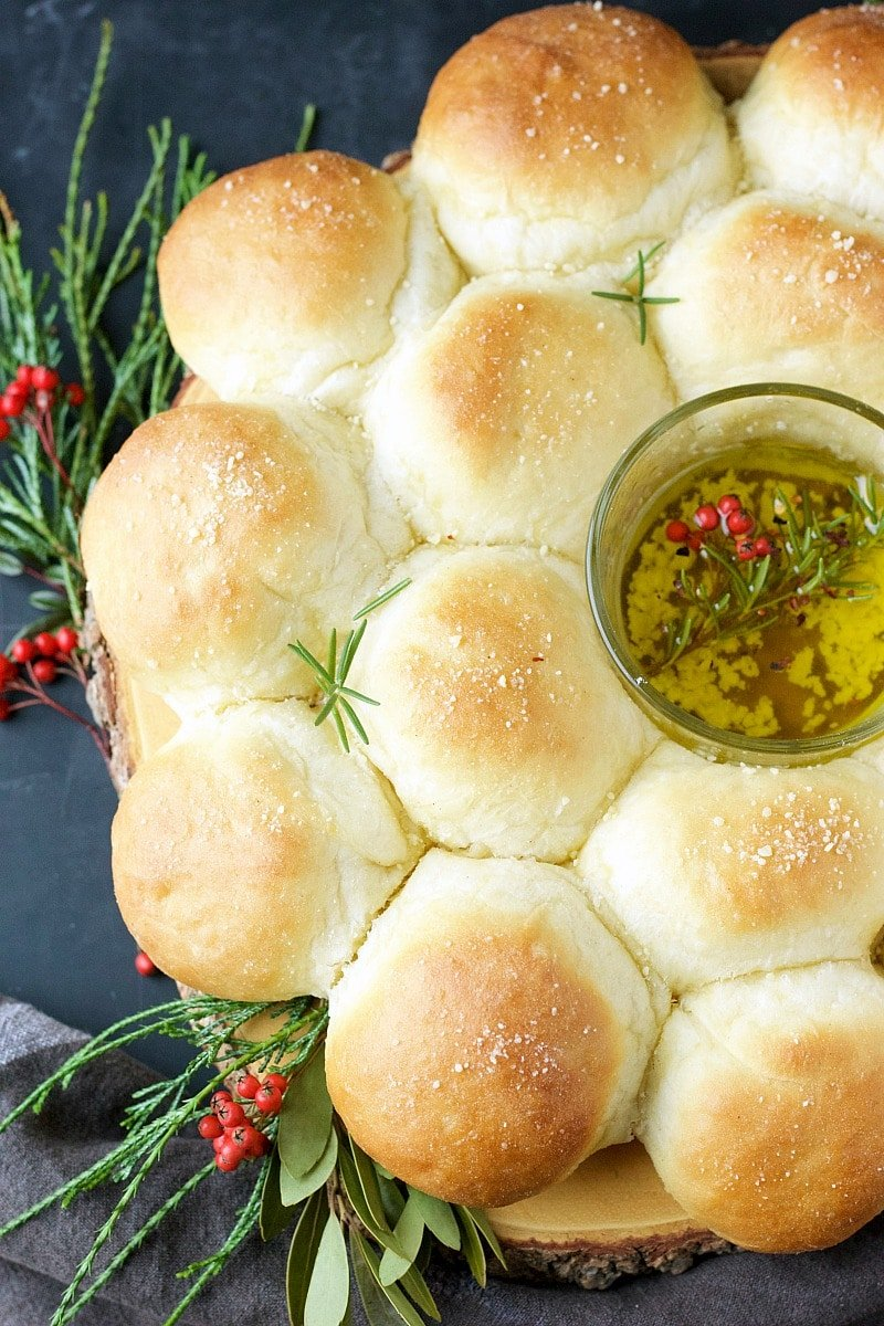 Garlic Parmesan Bread Wreath | Garden in the Kitchen