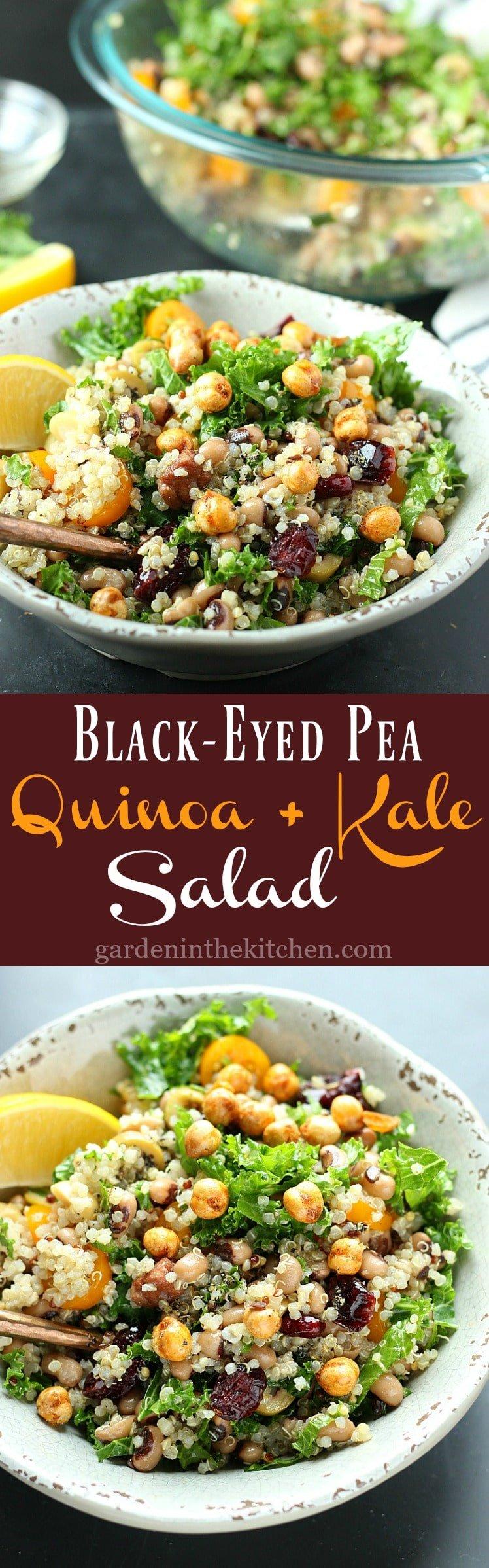 Black-Eyed Pea Quinoa + Kale Salad | Garden in the Kitchen