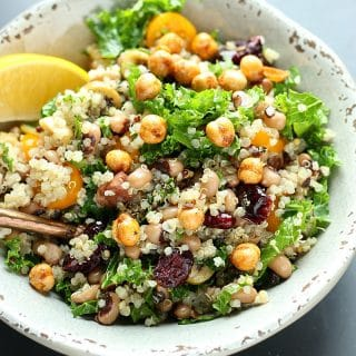 Black Eyed Pea Salad with Quinoa + Kale! | Garden in the Kitchen