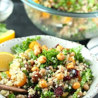Black-Eyed Pea Quinoa + Kale Salad | Garden in the Kitchen